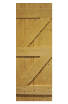 Wax Finished Ledge & Brace Pine Cottage Door from Period Style Made in the UK